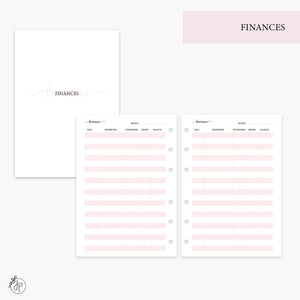 Finances Pink - Personal Wide Rings