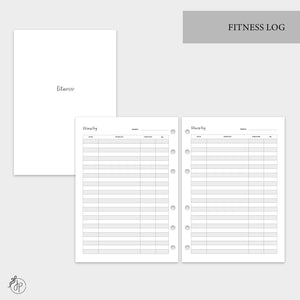 Fitness Log - A5 Rings