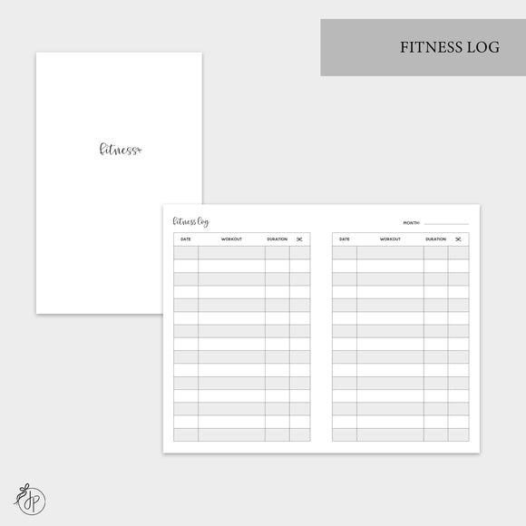 Fitness Log - Pocket TN
