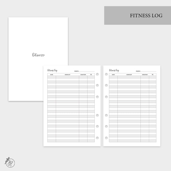 Fitness Log - Personal Wide Rings