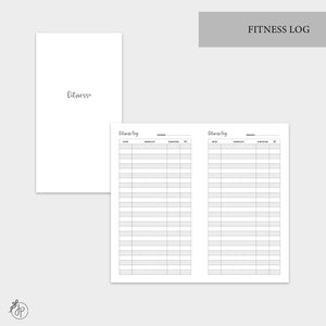 Fitness Log - Personal TN