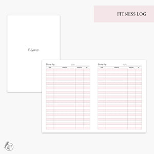Fitness Log Pink - B6 TN