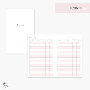 Fitness Log Pink - Pocket TN