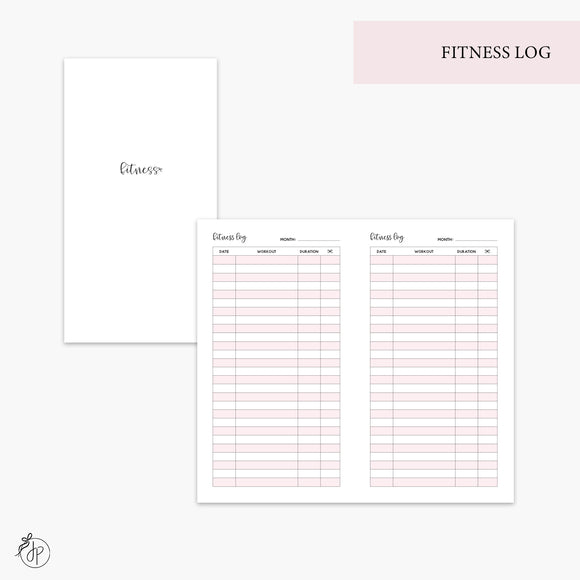 Fitness Log Pink - Personal TN