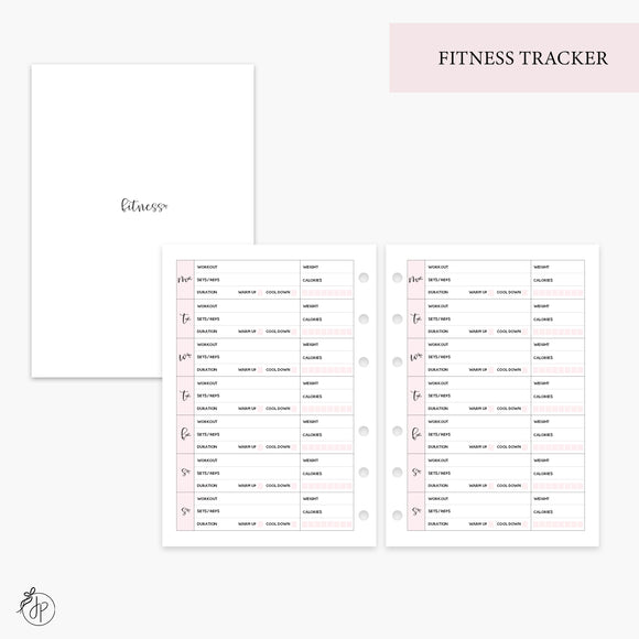 Fitness Tracker Pink - Personal Wide Rings