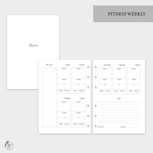 Fitness Weekly - A5 Rings