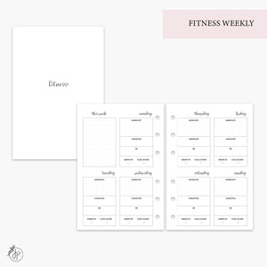 Fitness Weekly Pink - A6 Rings