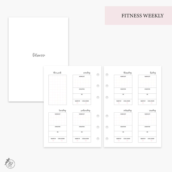 Fitness Weekly Pink - Personal Wide Rings
