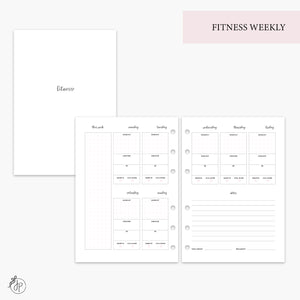 Fitness Weekly Pink - A5 Rings