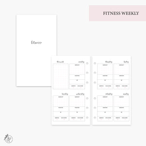 Fitness Weekly Pink - Personal Rings