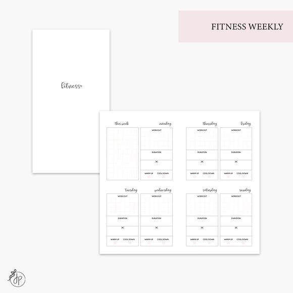 Fitness Weekly Pink - Personal TN