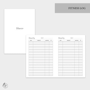 Fitness Log - A6 TN