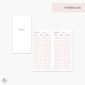 Fitness Log Pink - Hobo TN