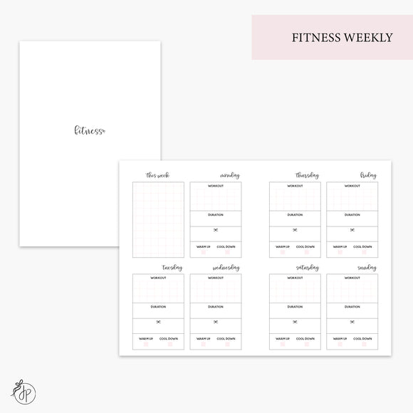 Fitness Weekly Pink - A6 TN