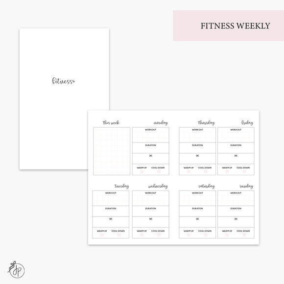 Fitness Weekly Pink - Pocket TN