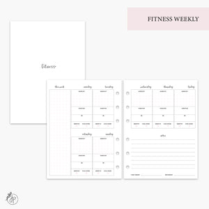 Fitness Weekly Pink - B6 Rings