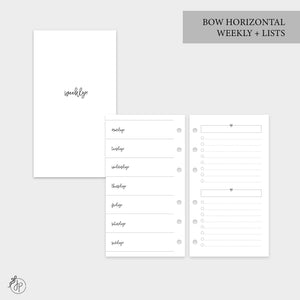 Bow Horizontal Weekly + Lists - Personal Rings