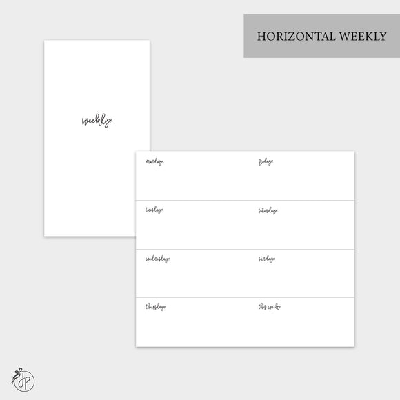 Bow Horizontal Weekly - Personal TN
