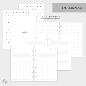 Basics Bundle - Half Letter Rings