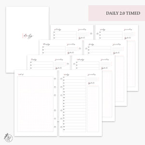Daily 2.0 Timed Pink - Half Letter Rings
