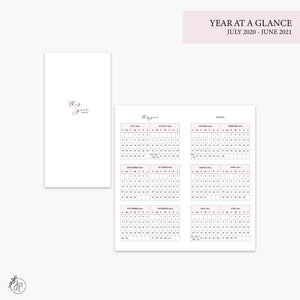 Year at a Glance 20/21 Pink - Hobo TN