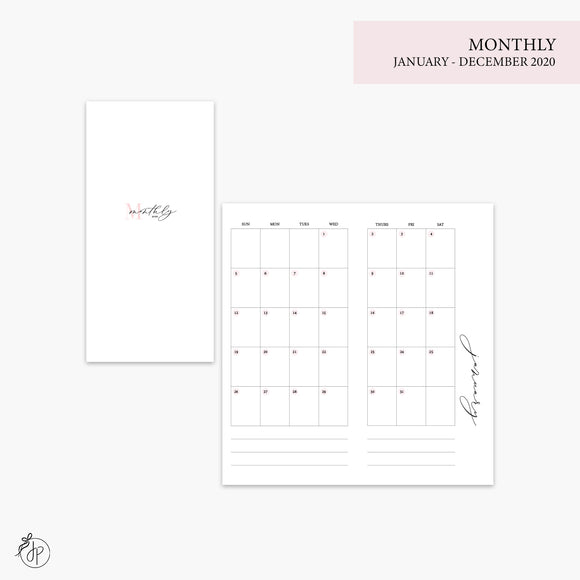 Monthly 2020 Pink - Hobo TN