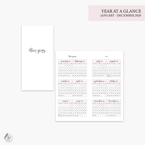 Year at a Glance 2020 Pink - Hobo TN