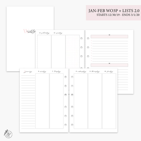 Jan-Feb Wo3P + Lists 2.0 Pink - B6 Rings