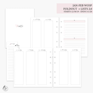 Jan-Feb Wo3P Foldout + Lists 2.0 Pink - Personal Wide Rings