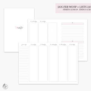 Jan-Feb Wo3P + Lists 2.0 Pink - B6 TN
