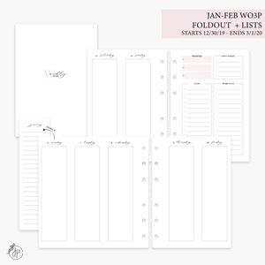 Jan-Feb Wo3P Foldout + Lists Pink - Personal Wide Rings
