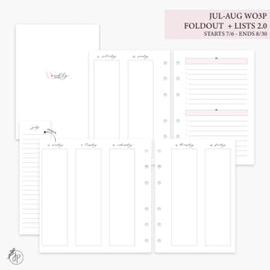 Jul-Aug Wo3P Foldout + Lists 2.0 Pink - Personal Wide Rings