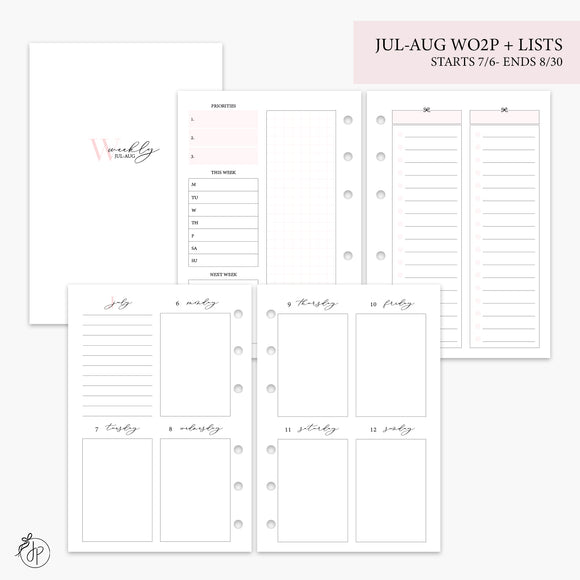 Jul-Aug Wo2P + Lists Pink - A6 Rings