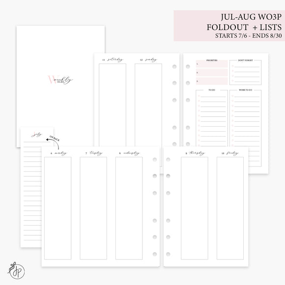 Jul-Aug Wo3P Foldout + Lists Pink - Personal Wide Rings