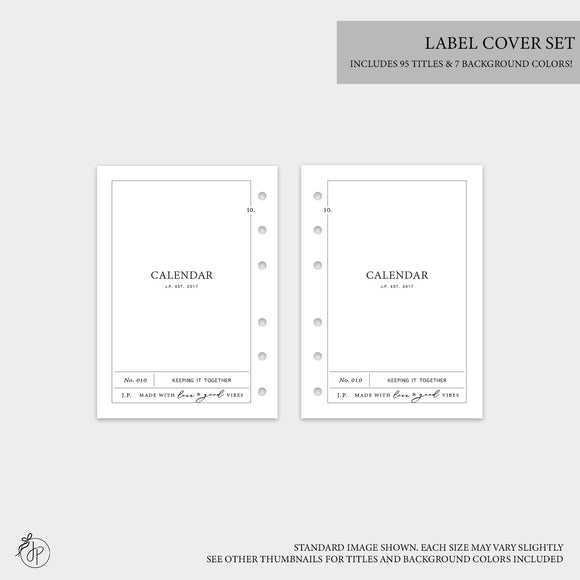 Label Covers - Personal Wide Rings