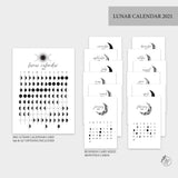 Lunar Calendar Bundle 2021 - A6 Rings