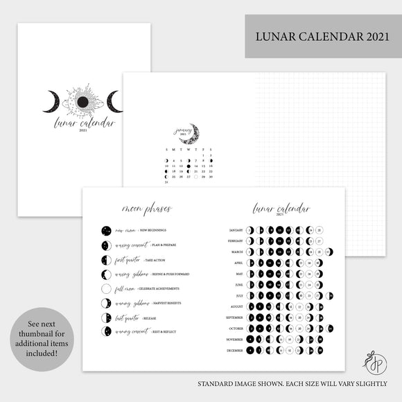 Lunar Calendar Bundle 2021 - A5 Rings