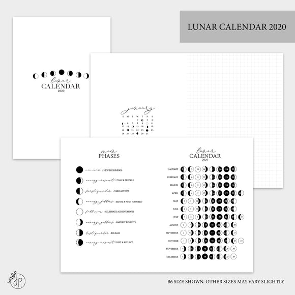 Lunar Calendar 2020 - A5 Wide Rings