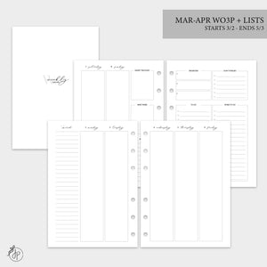 Mar-Apr Wo3P + Lists - A5 Rings