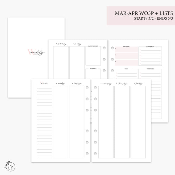 Mar-Apr Wo3P + Lists Pink - A5 Rings