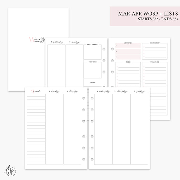 Mar-Apr Wo3P + Lists Pink - B6 Rings