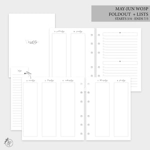 May-Jun Wo3P Foldout + Lists 2.0 - Personal Wide Rings