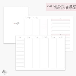 May-Jun Wo3P + Lists 2.0 Pink - B6 TN