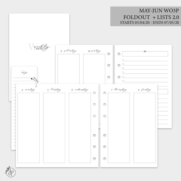 May-Jun Wo3P Foldout + Lists 2.0 - A6 Rings