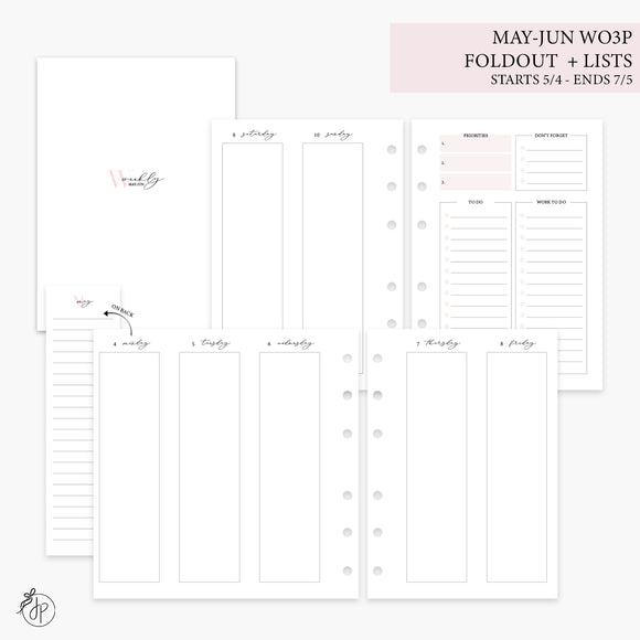 May-Jun Wo3P Foldout + Lists Pink - Personal Wide Rings