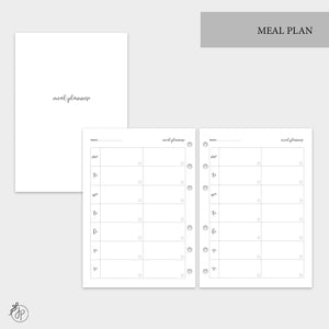 Meal Plan - A5 Rings