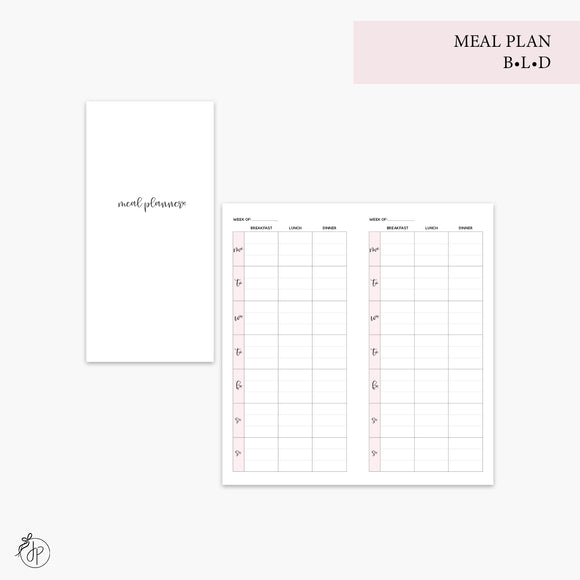 Meal Plan BLD Pink - Hobo TN
