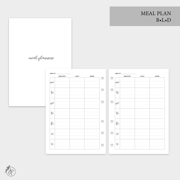 Meal Plan BLD - Personal Wide Rings