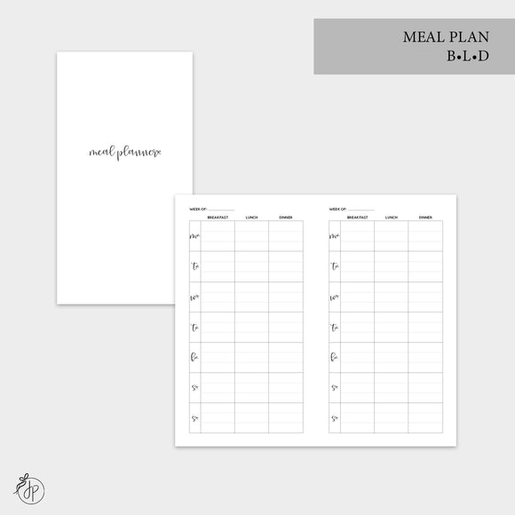 Meal Plan BLD - Personal TN