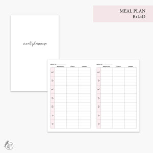 Meal Plan BLD Pink - Pocket TN